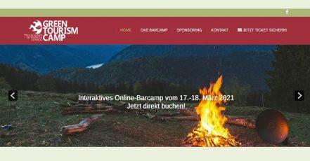 Bild: Screenshot der Green Tourism Camp Website (https://greentourismcamp.com)
