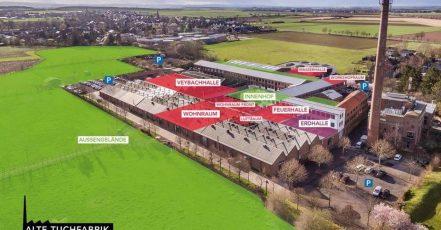 """Titelbild: Blick auf das Gelände """"Alte Tuchfabrik"""" in Euskirchen (Quelle: lemonpie.de)"""