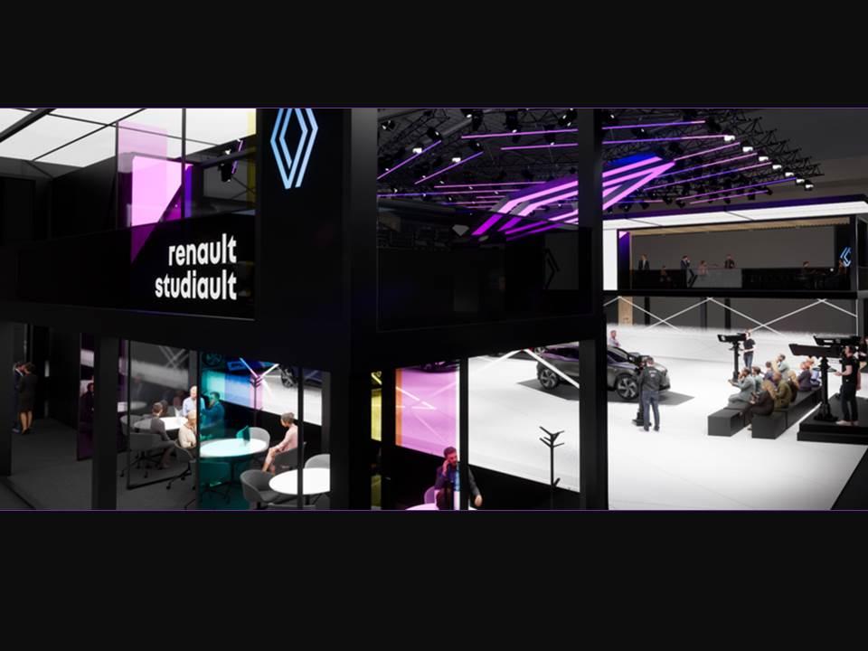 """Bild: Neuer Messestand """"Renault studiault"""" auf der IAA Mobility 2021"""