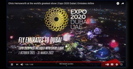 Bild: Screenshot aus dem Kampagnenvideo_Emirates-Dubai-Expo-2020